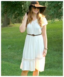 Floppy Hat + Dress