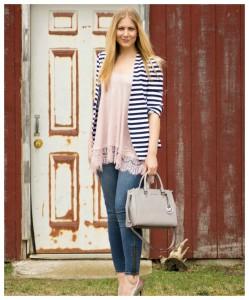 Striped Blazer Casual Style
