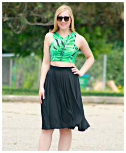 Tropical crop top style