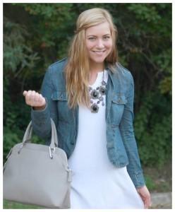 White dress + Jean Jacket