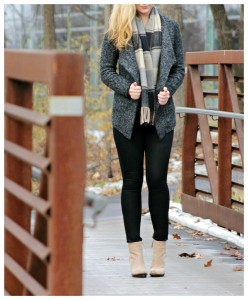 fall outfit open face cardigan