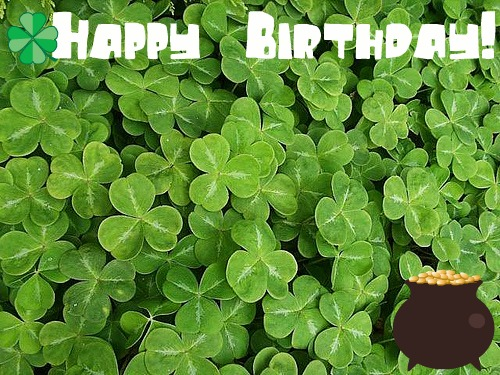 Happy st patrick s birthday
