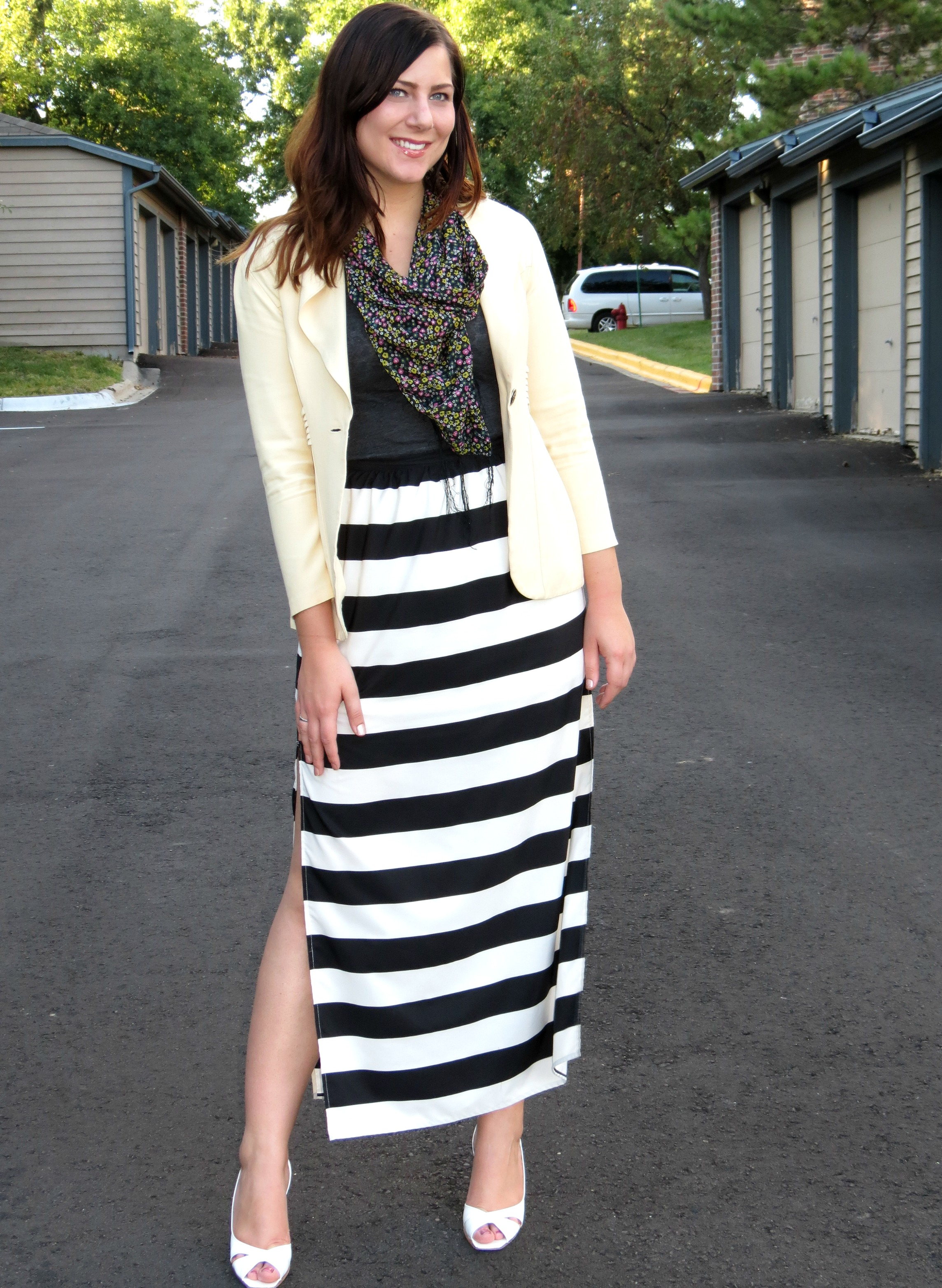 Striped Skirt Long - Dress Ala