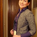 Tweed Jackets & Purple Tights