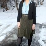 Chambray + Metallic Skirt