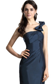 One Shoulder Bow Dress
