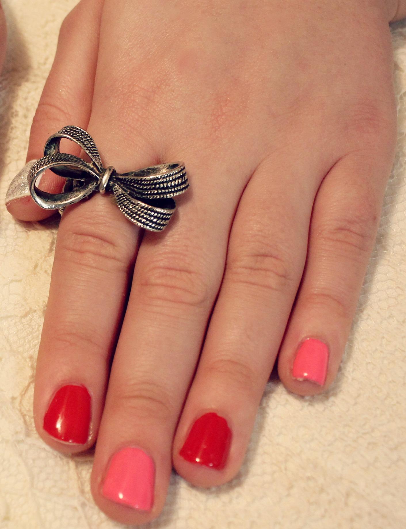 Valentine's Day Nails Half