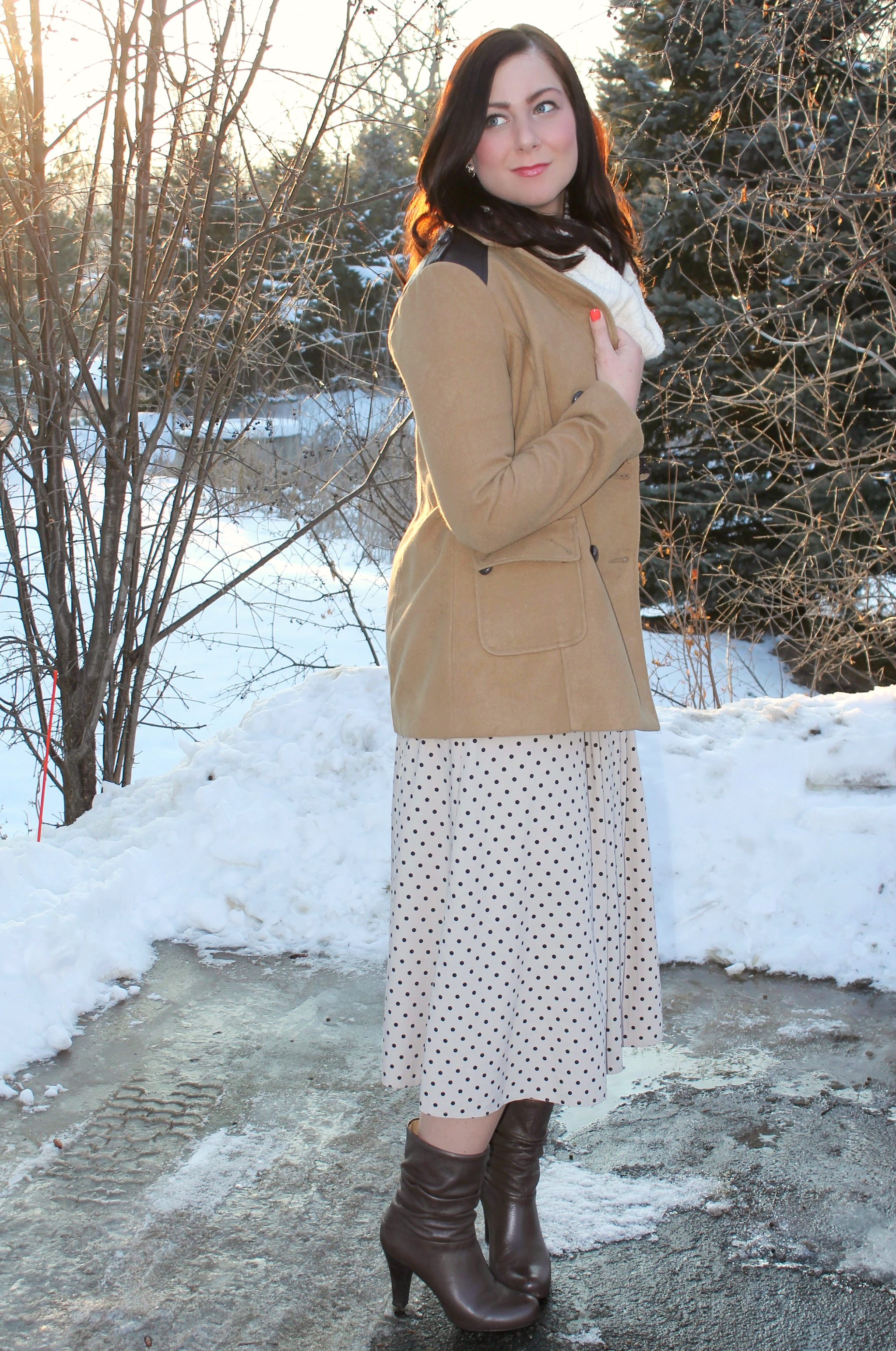 polka dot maxi_cowl neck sweater 3