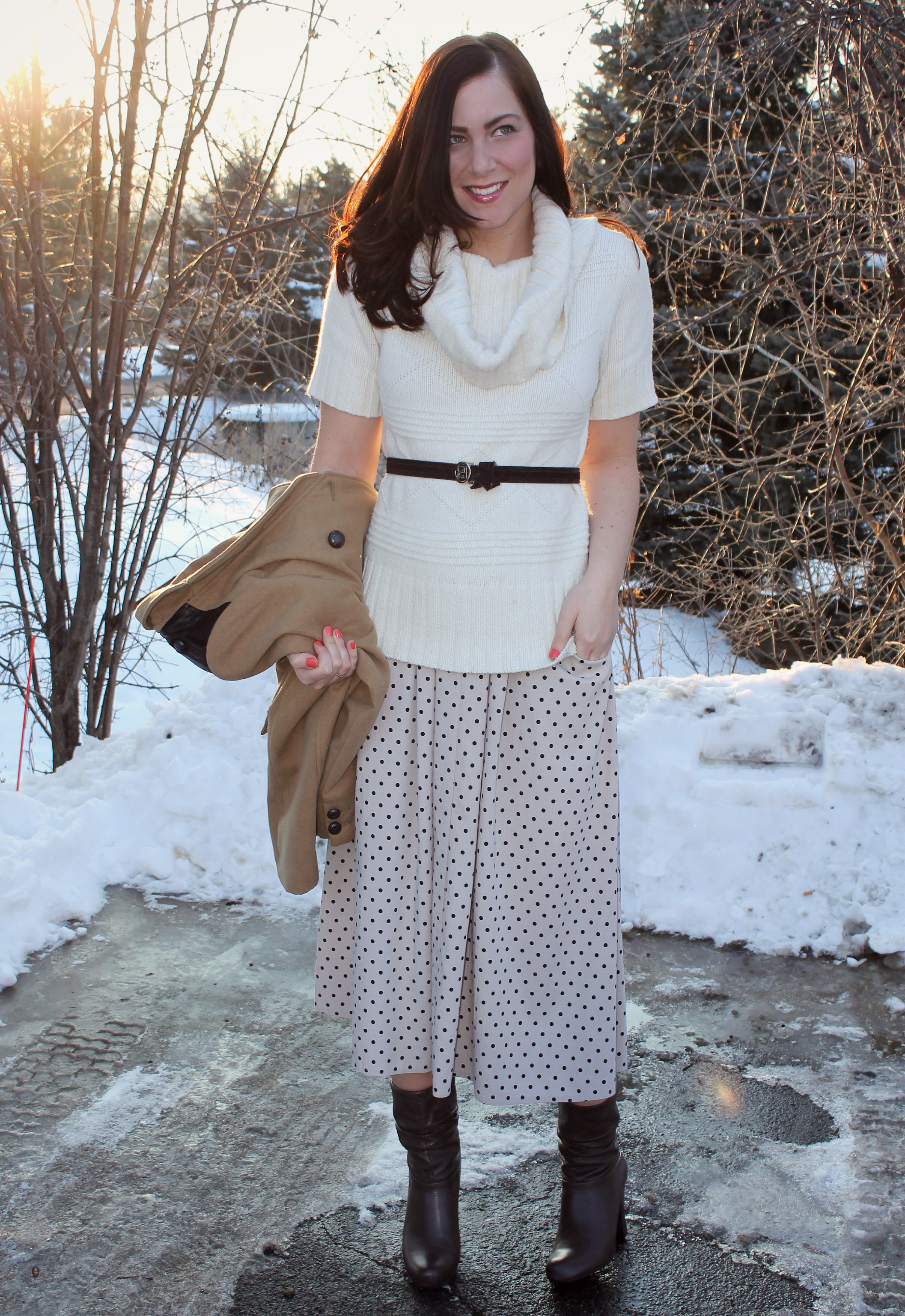 polka dot maxi_cowl neck sweater 6