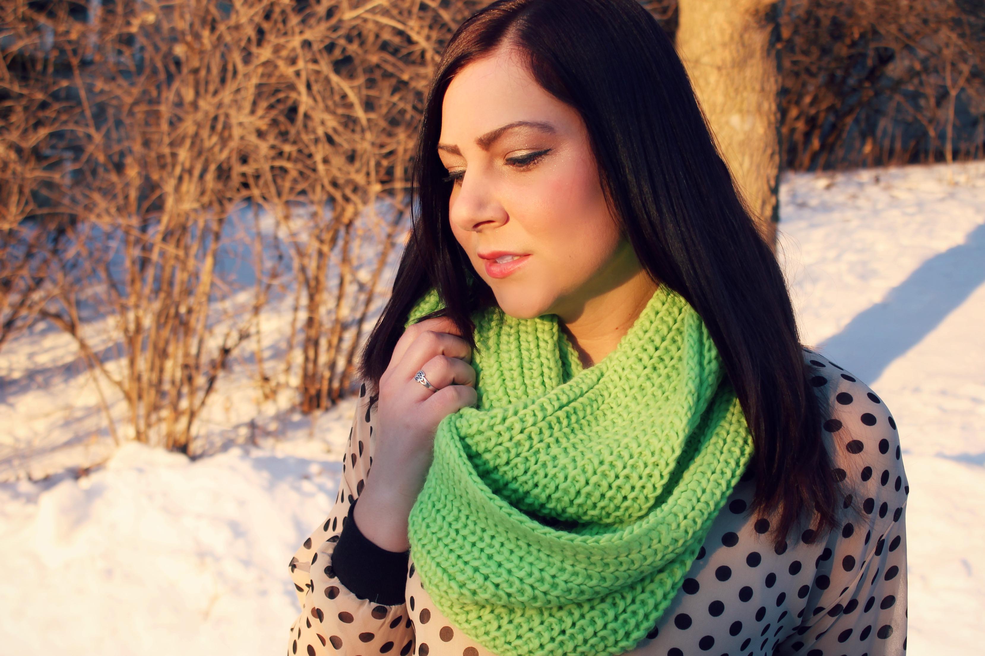 polka dots + scarf 2