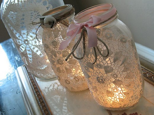 Create these simple book page mason jar candle holders to add light to ...