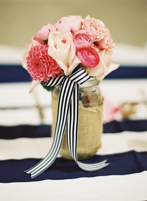 Mason Jar_Striped Ribbon