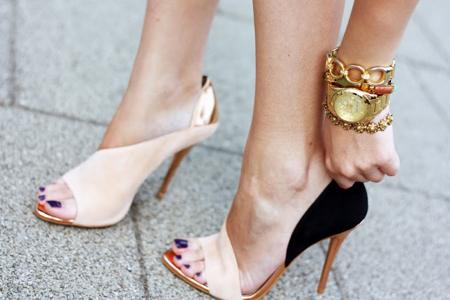 Zara laminated heel sandals5