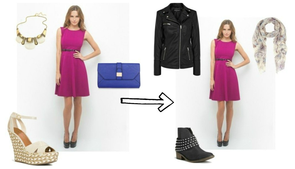 What Colour Shoes And Bag With Cerise Dress