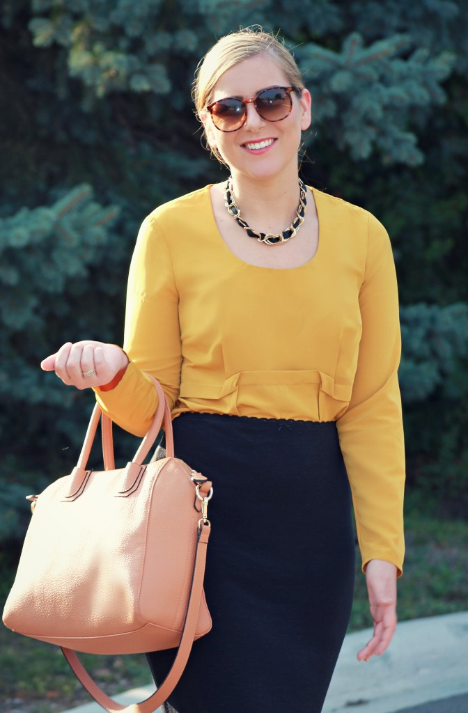 Mustard Blouse, Simply Vera,