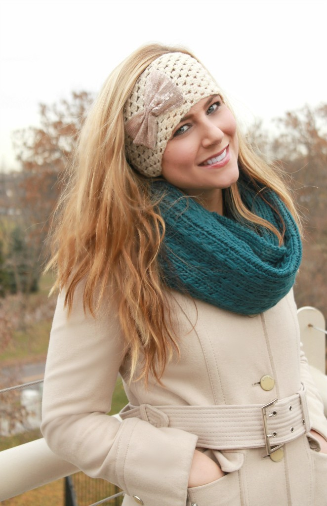 Cold Weather Gear from Sears, #shop, scarf, bows, ear warmer, bow ear warmer, how to look chic in cold weather