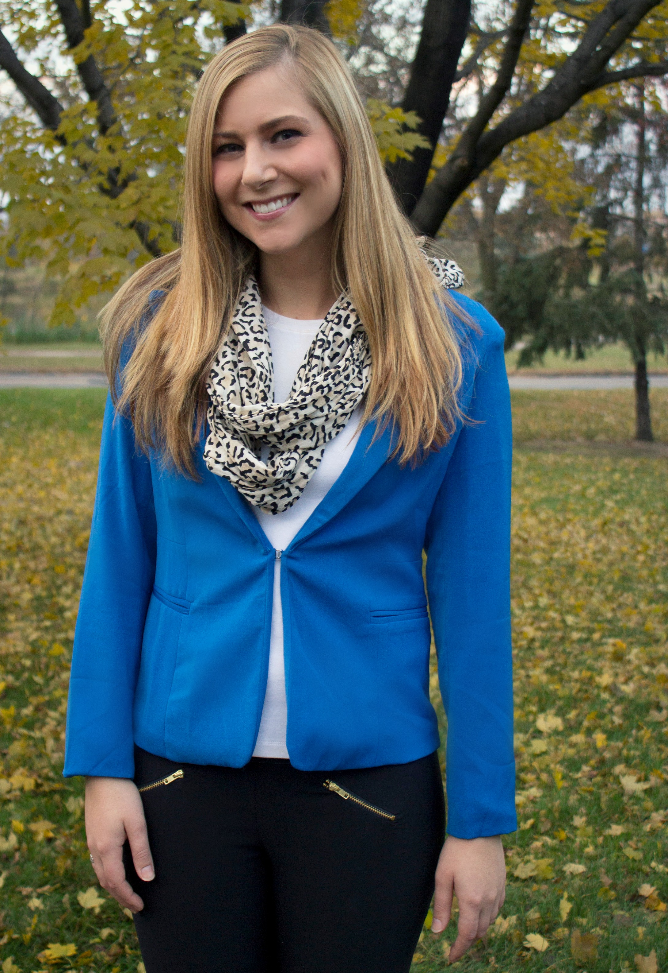 Leggings + Blue Blazer