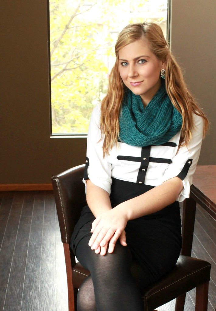 Sears Scarf Outfit, searsStyle, #shop, #ThisisStyle #cbias, black and white blouse, black and white trend, 2013 trends, date night outfit