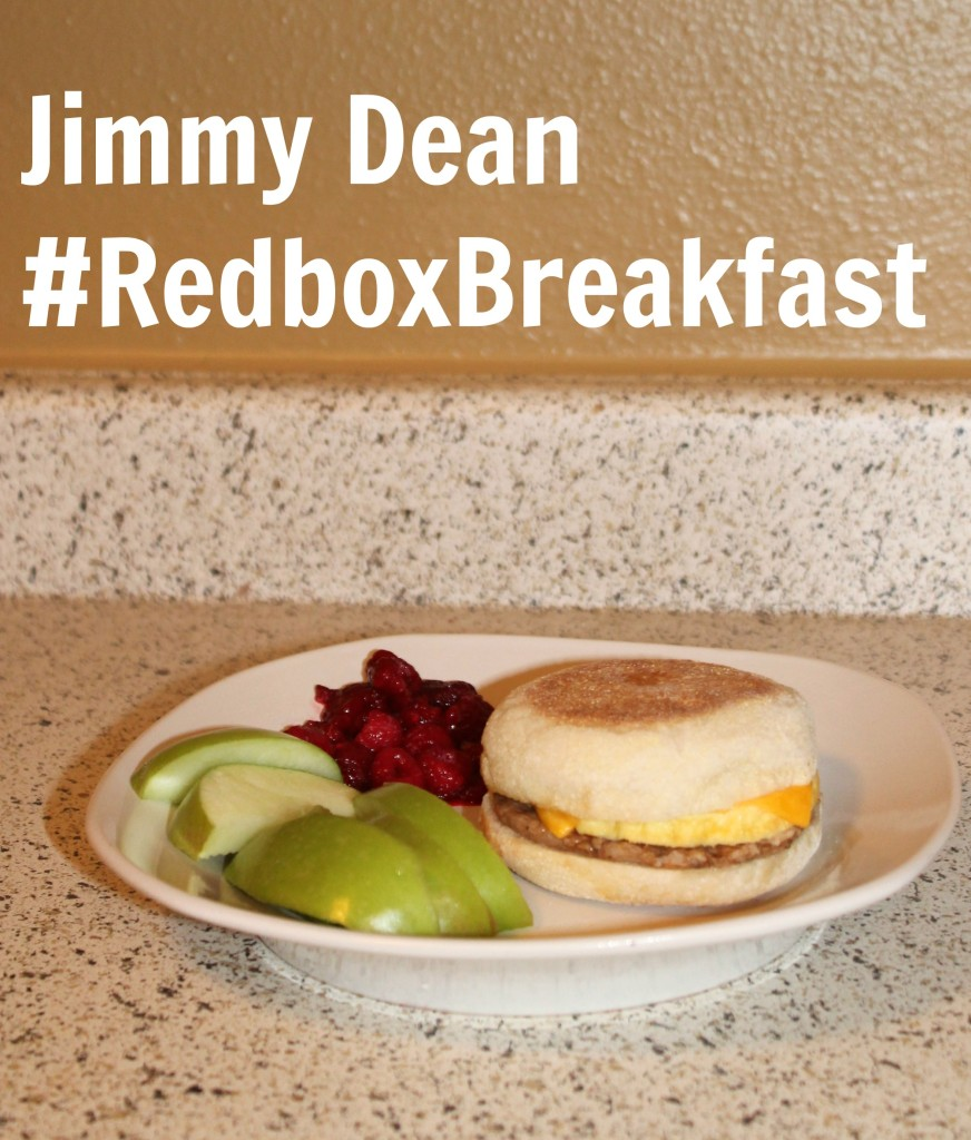 Jimmy Dean English Muffin Sausage Egg & Cheese Sandwich #RedboxBreakfast #PMedia #ad