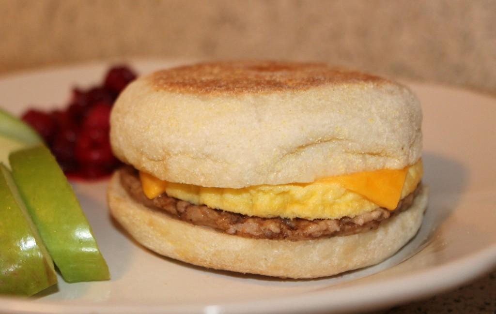 Jimmy Dean Sausage Breakfast Sandwich #RedboxBreakfast #PMedia #ad
