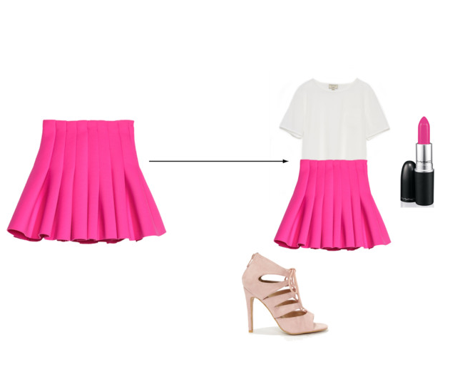 Pretty in Pink_ hot pink skater skirt