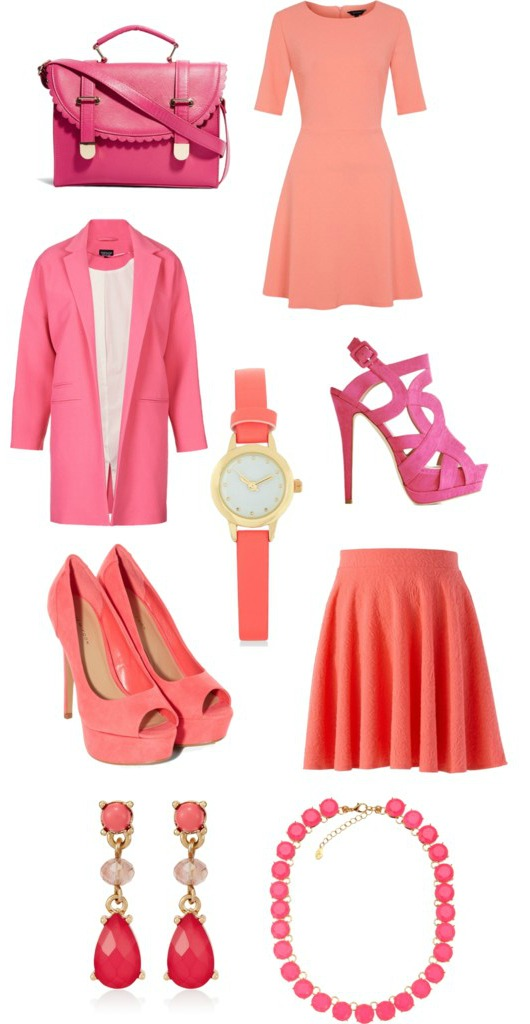 pink and peach clothes for spring