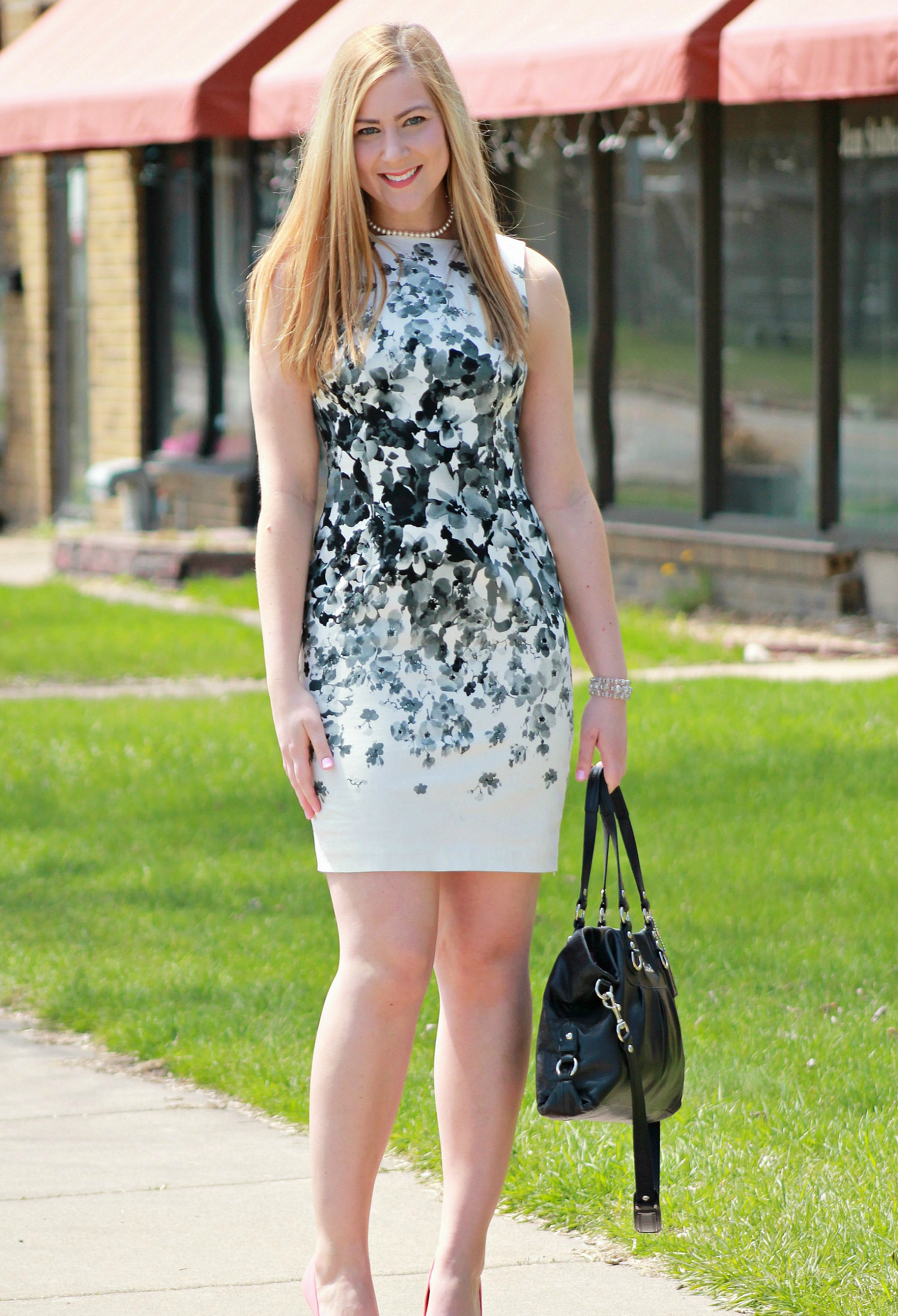 Spring fashion with maggy london dresses rachels lookbook black and white floral dress mightylinksfo