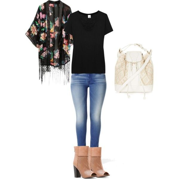 Casual Style with Fringed Kimono