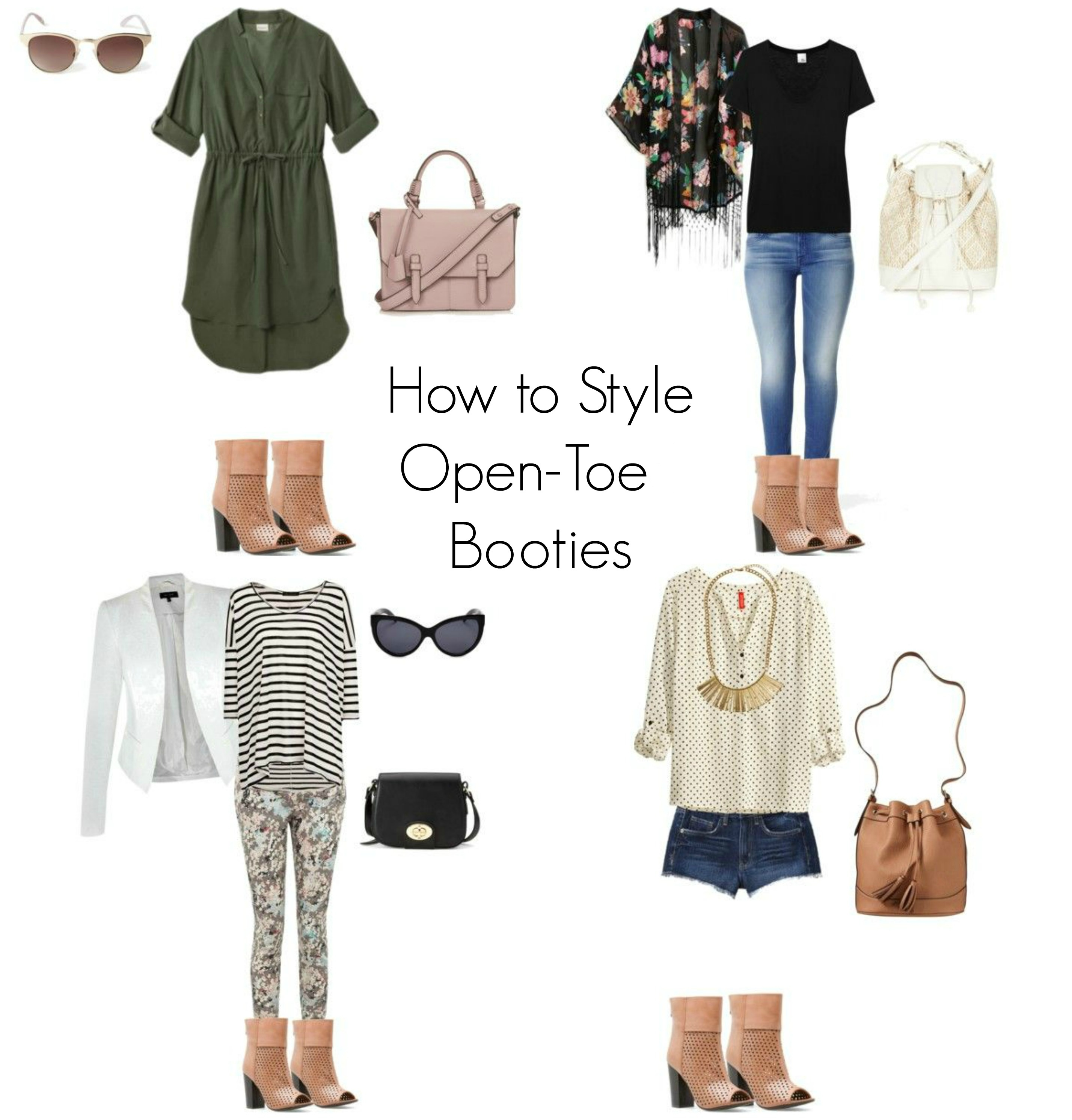 How to Style Open-Toe Booties