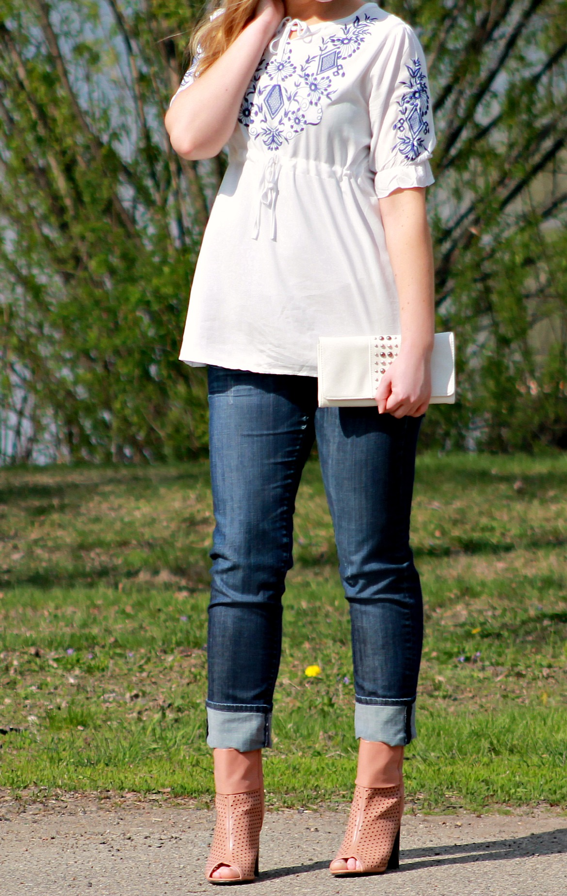 OASAP top with cuffed jeans