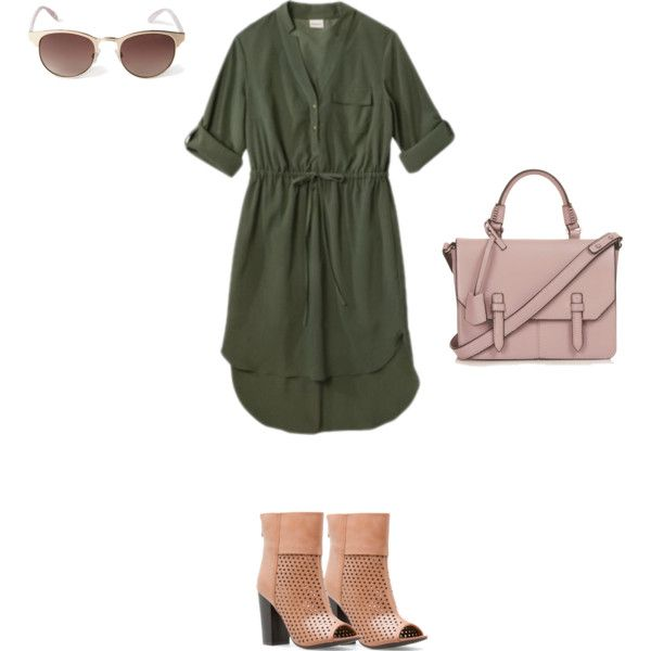 Shirt Dress + Structured Bag