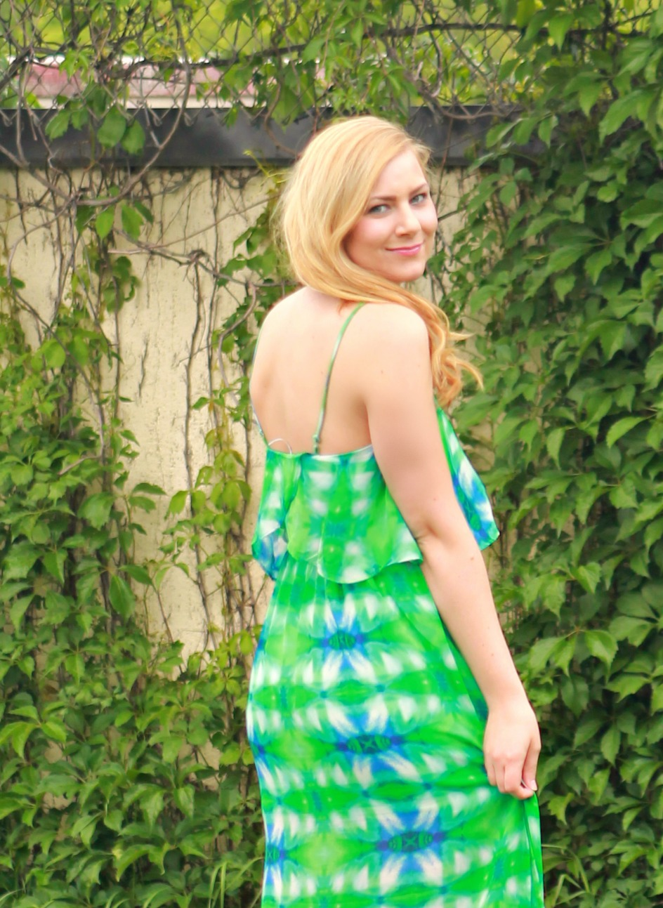 green and blue maxi