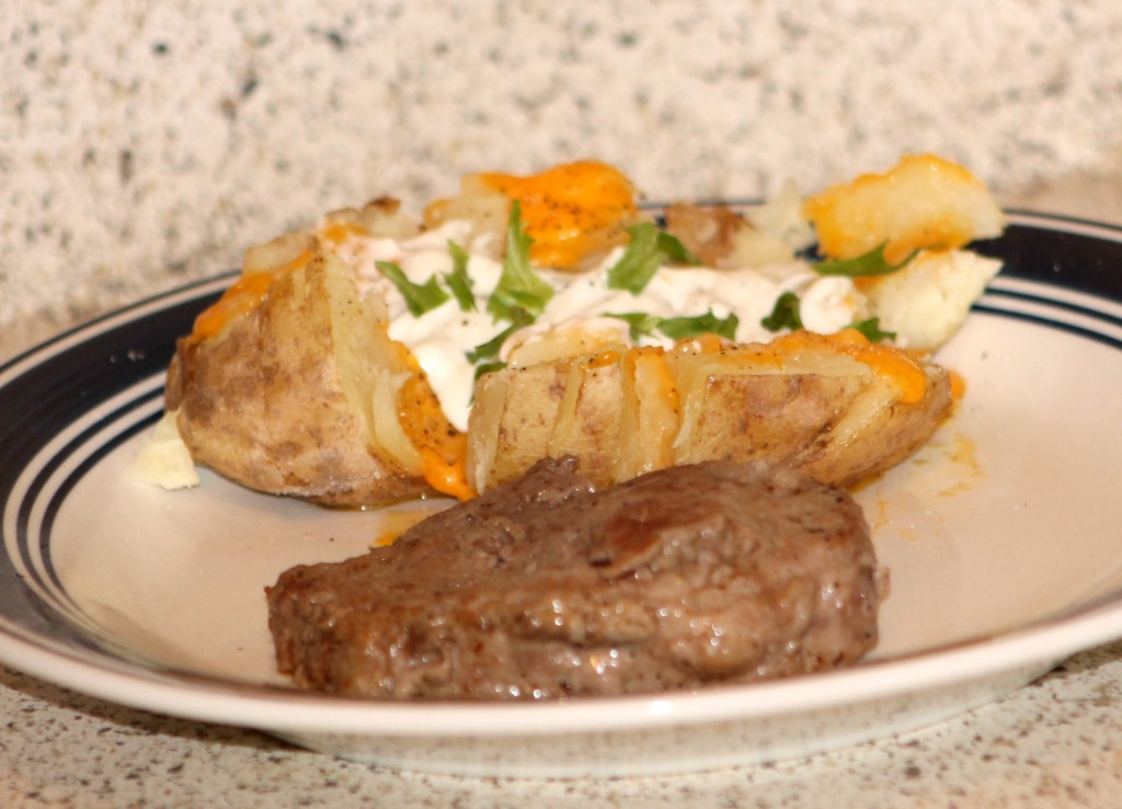 steak + baked potato