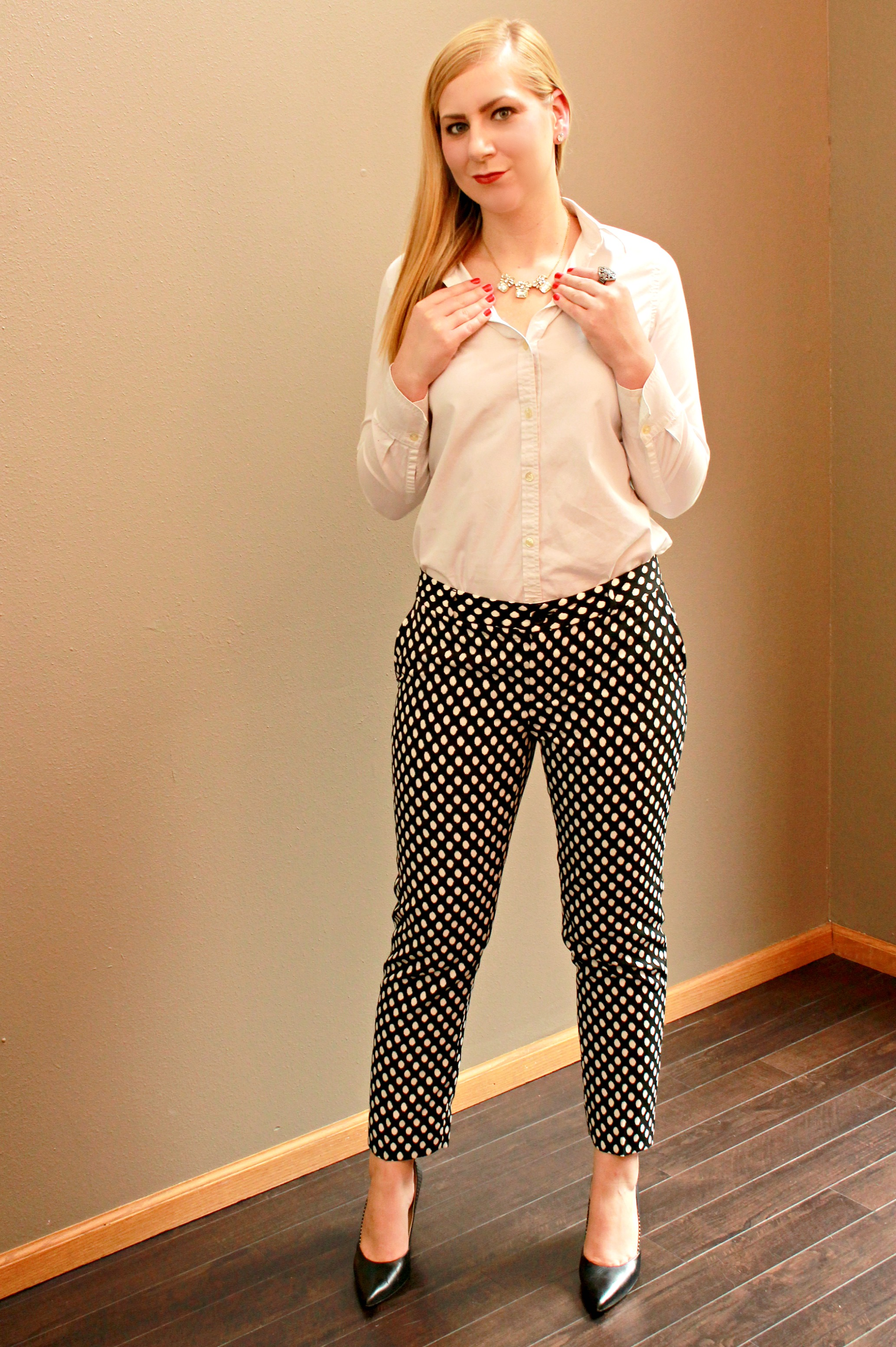 Printed Pants Office Look