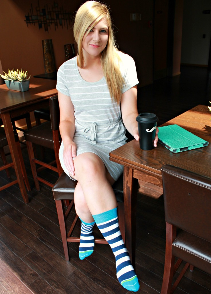 Comfy weekend style with mitscoots socks