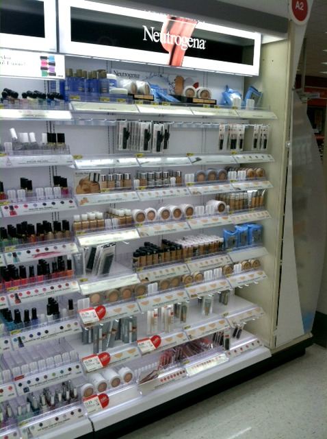 Neutrogena aisle at Target