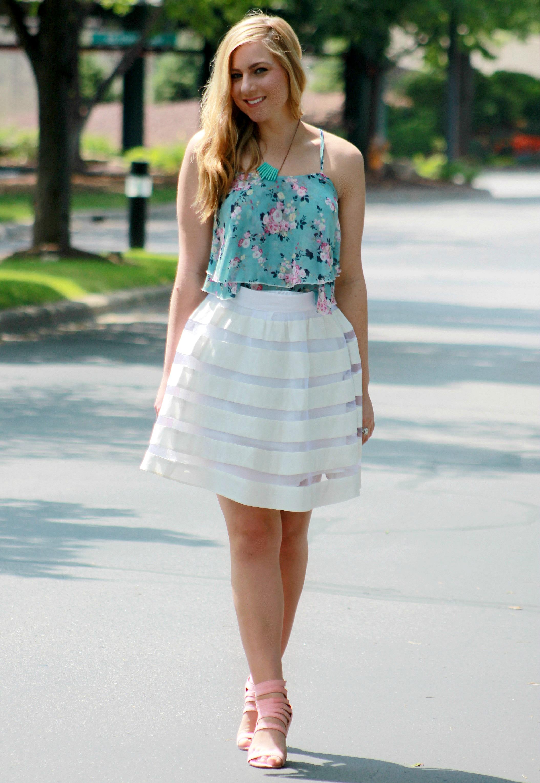 Rachel's Lookbook - white skirt
