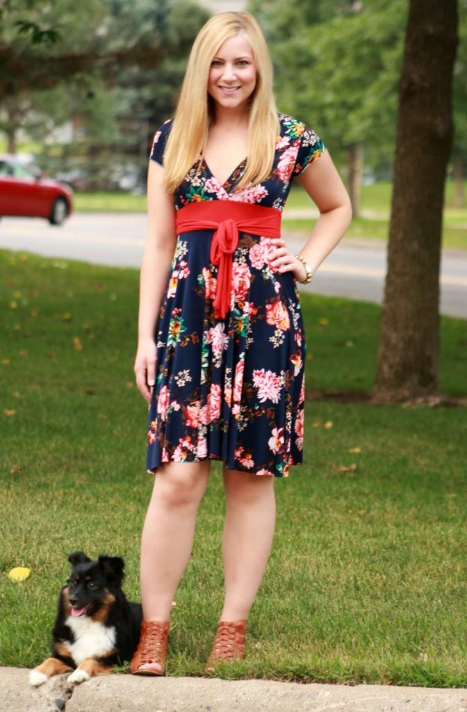 floral dress + summer sandals