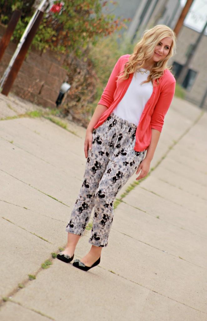floral pants + new hair