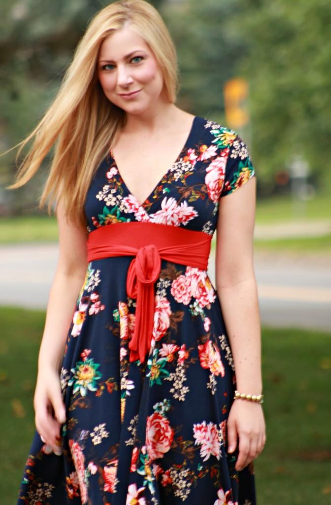 light-weight floral print dress