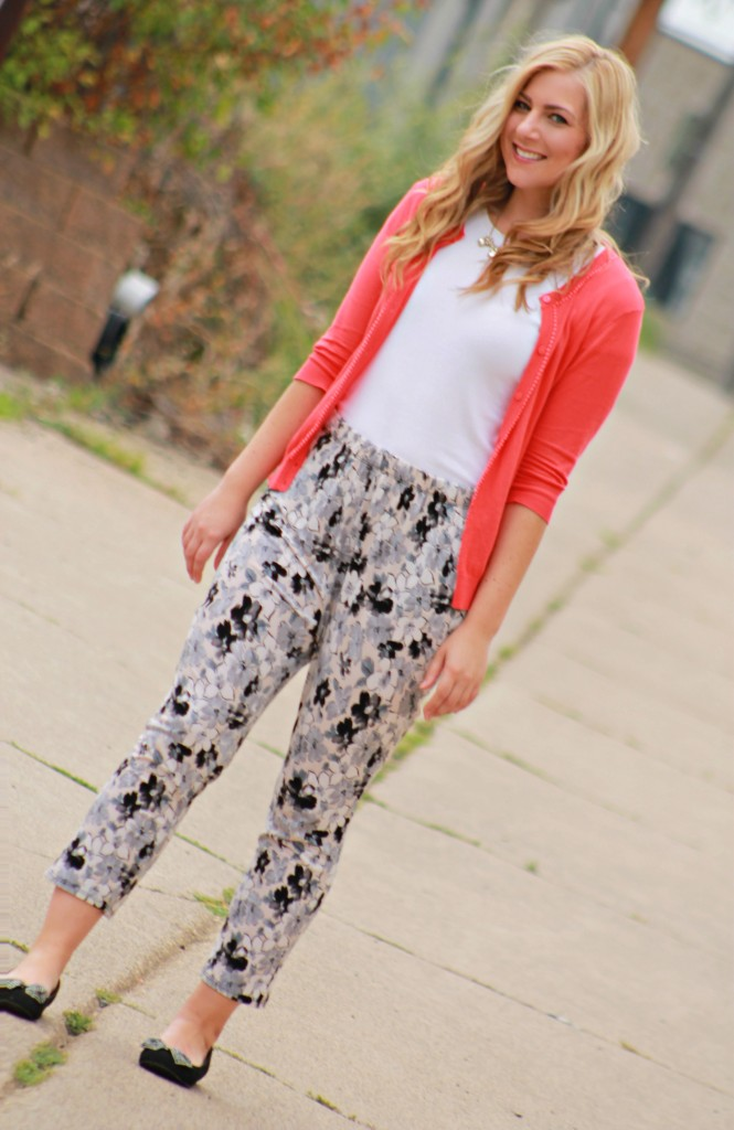 weekend style in floral pants