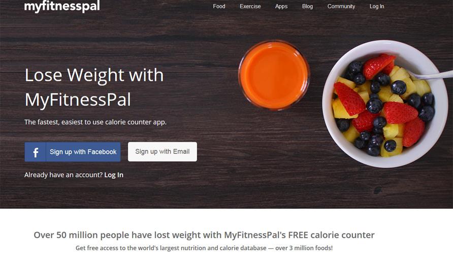 My-Fitness-Pal-website-screen-shot