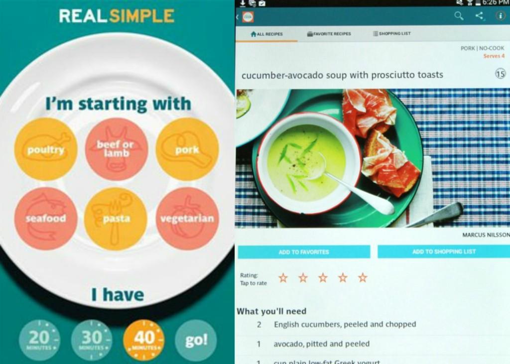 real simple recipe app