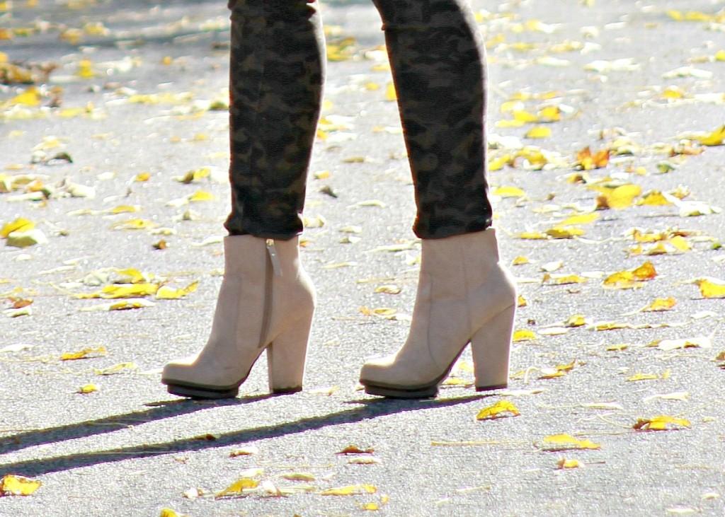 camo jeans + booties