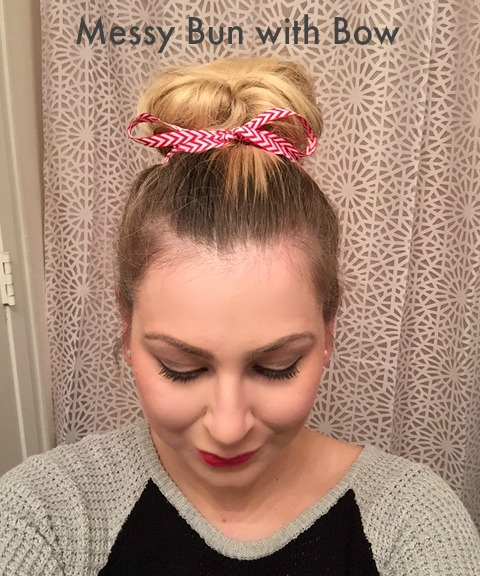 Mess Bun with Bow