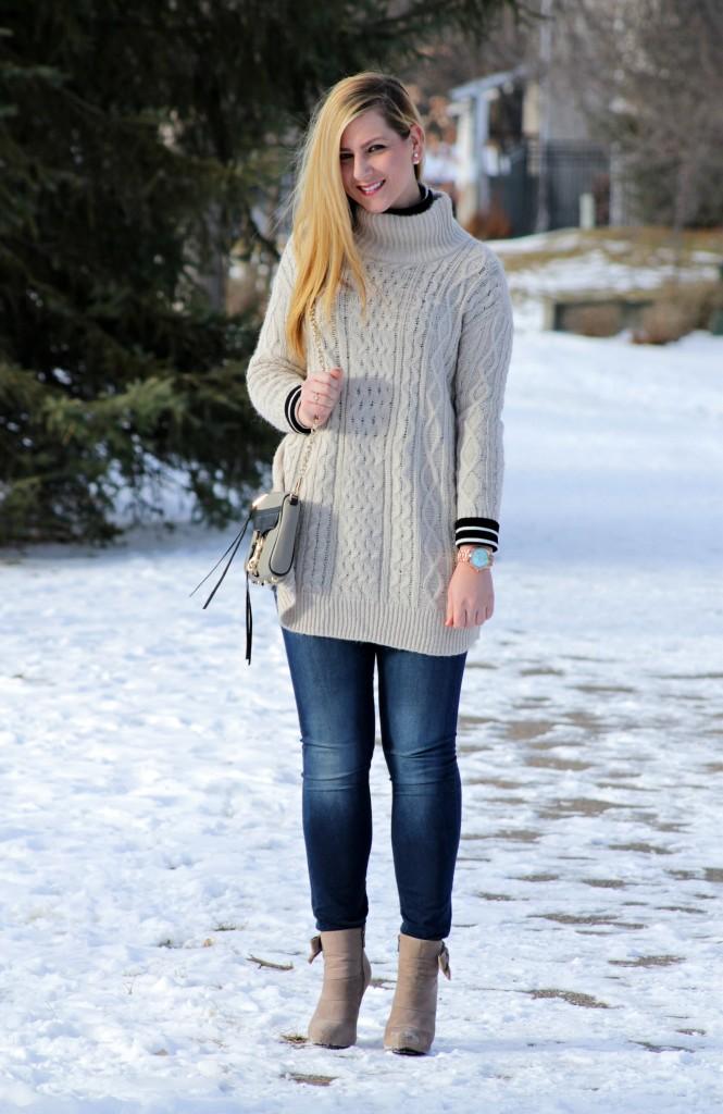 oversized sweater + rachel wristology watch