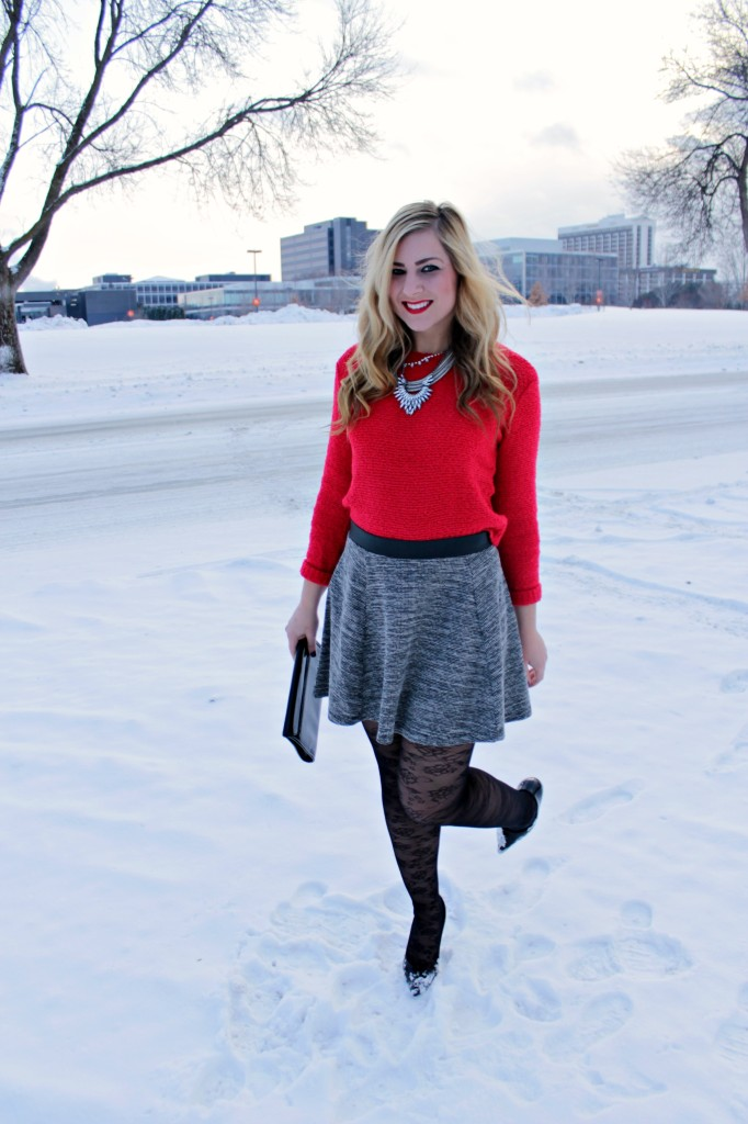 red and bright for the holidays