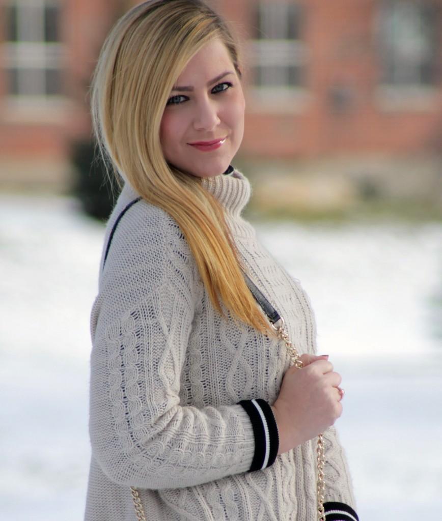 sweater + turtleneck