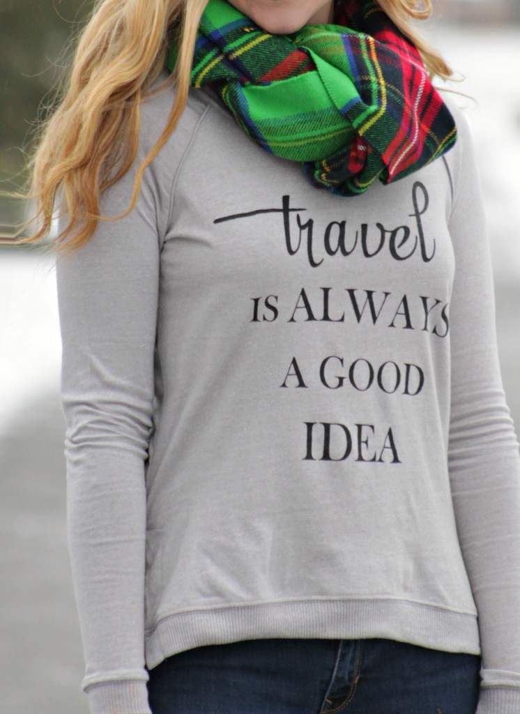 travel is always a good idea pullover from boat house apperal