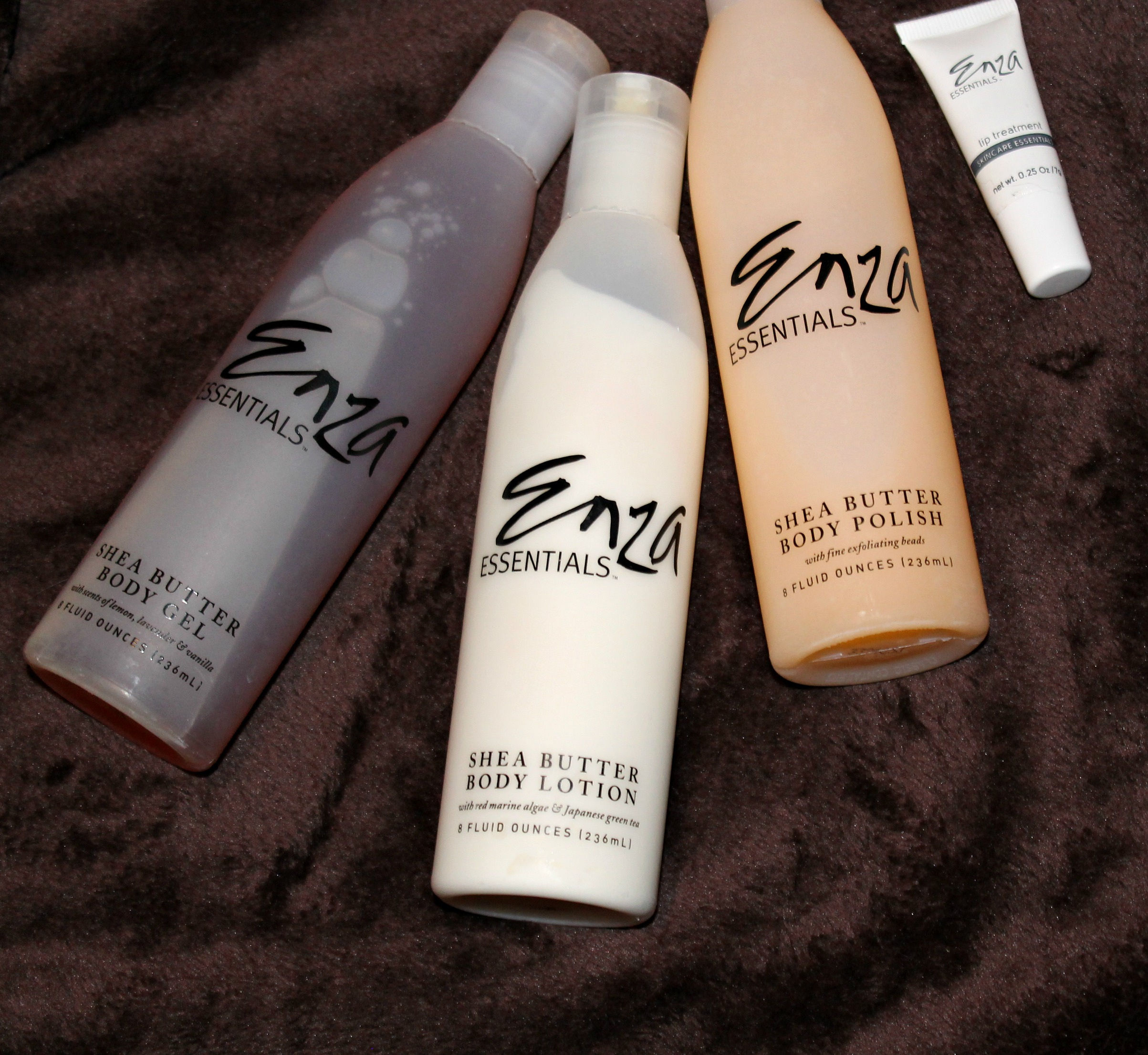Enza Essentials - Body Butter Lotion, Gel, Body Polish and Lip Treatment